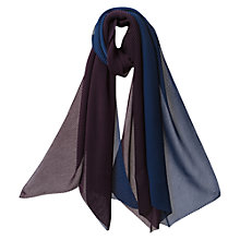 Buy East Pleated Studio Scarf, Deep Blue Online at johnlewis.com