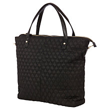Buy Warehouse Quilted Nylon Shopper Bag, Black Online at johnlewis.com