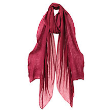 Buy East Wool Frill Scarf, Pink Online at johnlewis.com