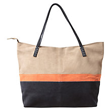 Buy East Contrast Colour Block Bag,  Navy Blue Online at johnlewis.com