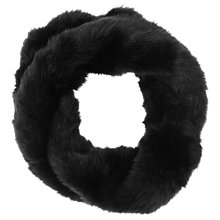 Buy Phase Eight Twist Faux Fur Snood, Black Online at johnlewis.com