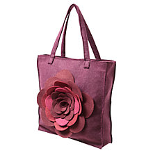 Buy East Flower Felt Bag, Merlot Red Online at johnlewis.com
