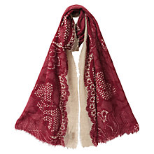 Buy East Print Detail Scarf, Pink Online at johnlewis.com