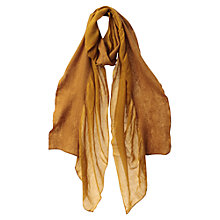 Buy East Wool Frill Scarf, Yellow Online at johnlewis.com