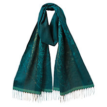 Buy East Jacquard Border Scarf, River Blue Online at johnlewis.com