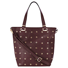 Buy Warehouse Eyelet Shopper Bag, Berry Online at johnlewis.com