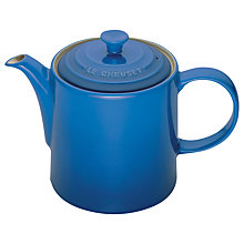Buy Le Creuset Grand Teapot, 1.3L, Marsielle Blue Online at johnlewis.com