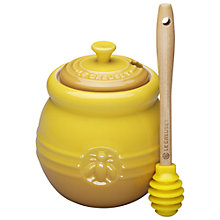 Buy Le Creuset Stoneware Honey Pot and Dipper, Dijon Online at johnlewis.com