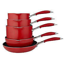 Buy John Lewis 'The Pan' Pan Set, 5 Piece, Chilli Online at johnlewis.com