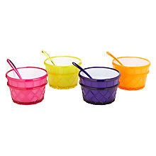 Buy John Lewis Cone Ice Cream Bowls and Spoons, Set of 4 Online at johnlewis.com