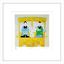 Buy Annora Spence - Dog On The Bus Limited Edition Framed Screenprint, 59 x 59cm Online at johnlewis.com