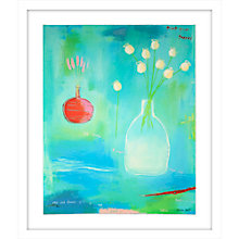 Buy Emma Davis - Mint Green Poppies Limited Edition Framed Screenprint, 84 x 72cm Online at johnlewis.com