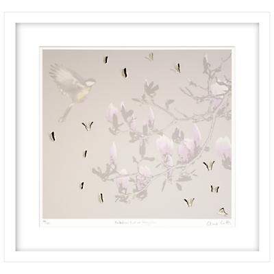 Clare Cutts – Butterflies, Bird and Magnolia Limited Edition Framed Laser-cut Screenprint, 69 x 73.5cm