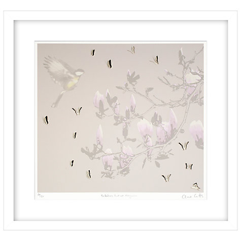 Buy Clare Cutts - Butterflies, Bird and Magnolia Limited Edition Framed Laser-cut Screenprint, 69 x 73.5cm Online at johnlewis.com