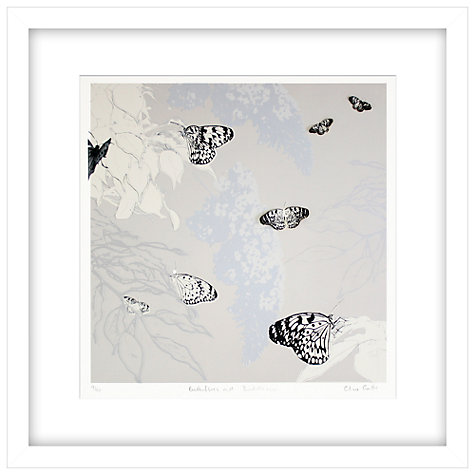 Buy Clare Cutts - Butterflies and Lilac Limited Edition Framed Laser-cut Screenprint, 60 x 60cm Online at johnlewis.com