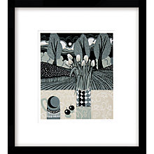 Buy Jane Walker - Black Cherries Limited Edition Framed Linocut Print, 60 x 54cm Online at johnlewis.com