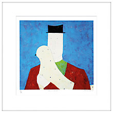 Buy Annora Spence - Man With Bird Limited Edition Framed Screenprint, 70 x 70cm Online at johnlewis.com