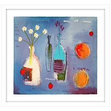 Buy Emma Davis - Strawberries, Daisies and Oranges Limited Edition Framed Screenprint, 69 x 73cm Online at johnlewis.com