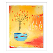 Buy Emma Davis - Orange Flowers in Big Urn Limited Edition Framed Screenprint, 84 x 72cm Online at johnlewis.com