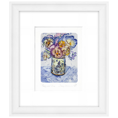 Buy Jenny Devereux - Pansy And Lace Limited Edition Hand-Coloured Etching, Framed, 44 x 38cm Online at johnlewis.com