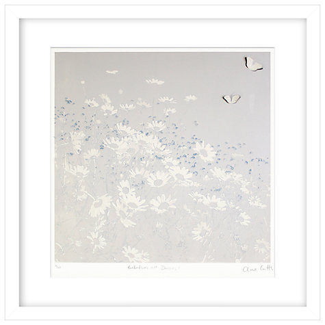 Buy Clare Cutts - Butterflies and Daisies Limited Edition Framed Laser-cut Screenprint, 60 x 60cm Online at johnlewis.com