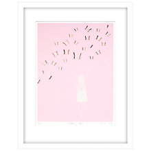 Buy Clare Cutts - Girl With Butterflies Limited Edition Framed Laser-cut Screenprint, 84 x 64cm Online at johnlewis.com