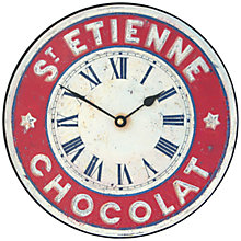 Buy Lascelles St Etienne Wall Clock, Red, Dia.25.5cm Online at johnlewis.com