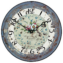 Buy Lascelles Amboise Wall Clock, Blue, Dia.36cm Online at johnlewis.com