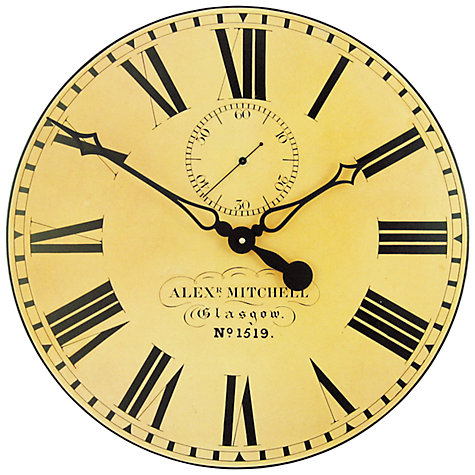 Buy Lascelles Glasgow Station Clock, Dia.50cm Online at johnlewis.com