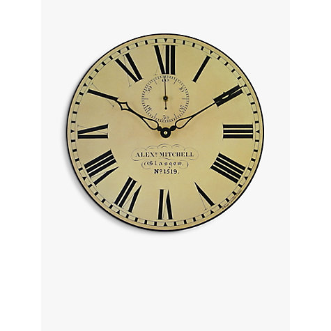 Buy Lascelles Glasgow Station Wall Clock, Cream, Dia.36cm Online at johnlewis.com