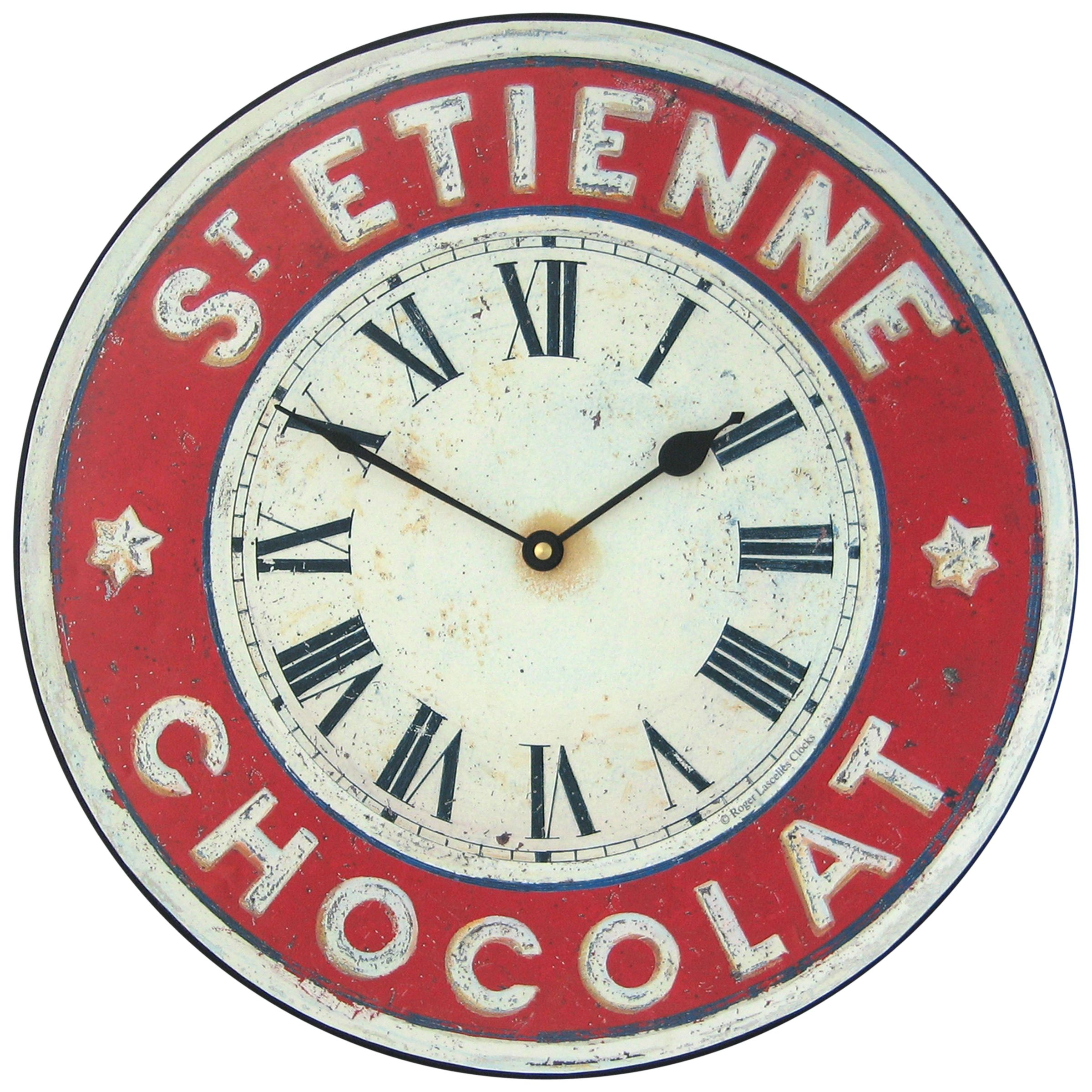 Lascelles Lascelles St Etienne Wall Clock, Red, Dia.36cm