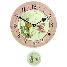 Buy Lascelles Fairie Pendulum Wall Clock, Pink, Dia.28.5cm Online at johnlewis.com