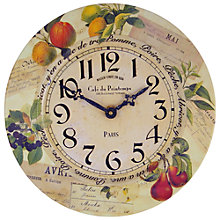 Buy Lascelles Fruits Wall Clock, Dia.36cm Online at johnlewis.com