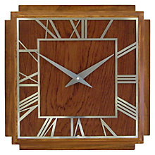 Buy Lascelles Wooden Deco Wall Clock, 36cm Online at johnlewis.com