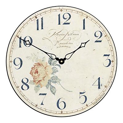 Image of Lascelles Angel Wall Clock, Cream, Dia.36cm