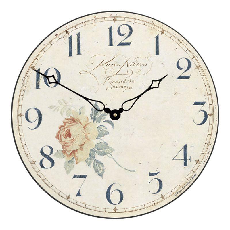 Lascelles Lascelles Angel Wall Clock, Cream, Dia.36cm