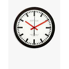 Buy Lascelles Swiss Station Wall Clock, Cream, Dia.30cm Online at johnlewis.com