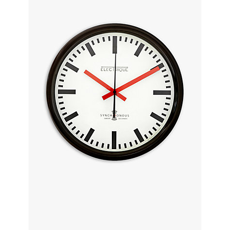 buy lascelles swiss station wall clock white