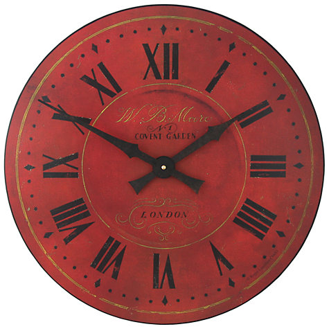 Buy Lascelles Moore Wall Clock, Dia.50cm Online at johnlewis.com