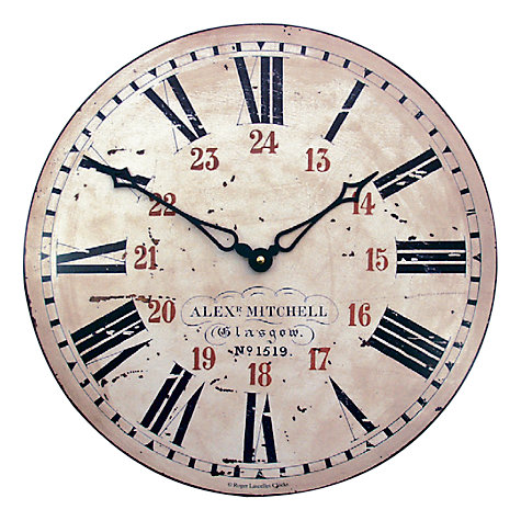 Buy Lascelles 24hr Railway Wall Clock, Cream, Dia.36cm Online at johnlewis.com