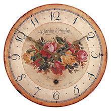 Buy Lascelles Emilie Wall Clock, Cream, Dia.36cm Online at johnlewis.com