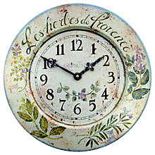 Buy Lascelles Herbes Wall Clock, Blue, Dia.36cm Online at johnlewis.com