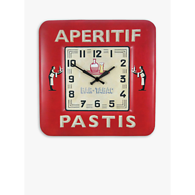Image of Lascelles Pastis Wall Clock, Red, Dia.31cm