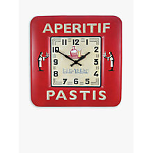 Buy Lascelles Pastis Wall Clock, Red, Dia.31cm Online at johnlewis.com