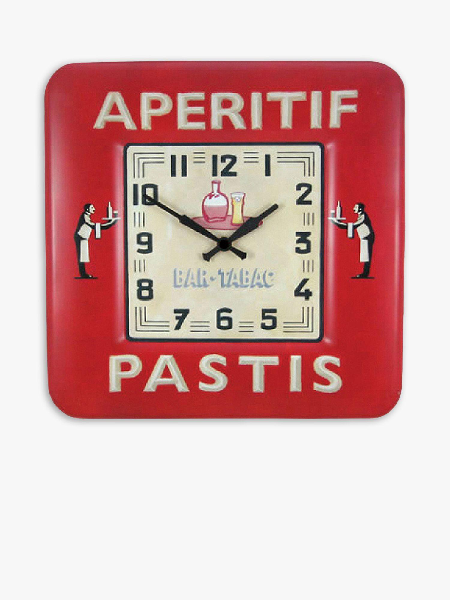 Lascelles Lascelles Pastis Wall Clock, Red, Dia.31cm