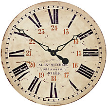 Buy Lascelles 24 Hour Railway Wall Clock, Dia.49cm Online at johnlewis.com