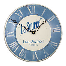 Buy Lascelles La Source Enamel Wall Clock, Blue, Dia.36cm Online at johnlewis.com