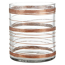 Buy Leonardo Rose Gold Hurricane Lamp, H12cm Online at johnlewis.com