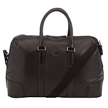 Buy BOSS Marco Leather Holdall, Black Online at johnlewis.com