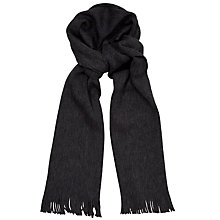 Buy Hugo Boss Albas Wool Scarf, Grey Online at johnlewis.com